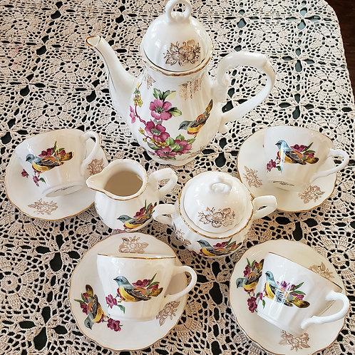Spring Birds Tea Set