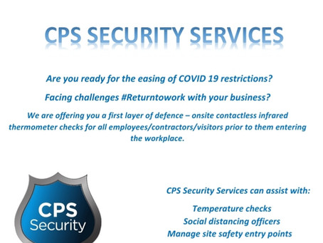 Are you ready #returntowork Covid 19? CPS providing first layer of defence #socialdistancing