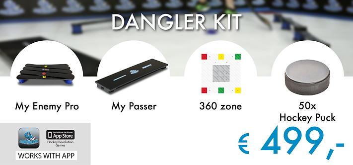 DANGLER KIT - MY ENEMY PRO+MY PASSER+360 ZONE+50 x HOCKEY PUCK