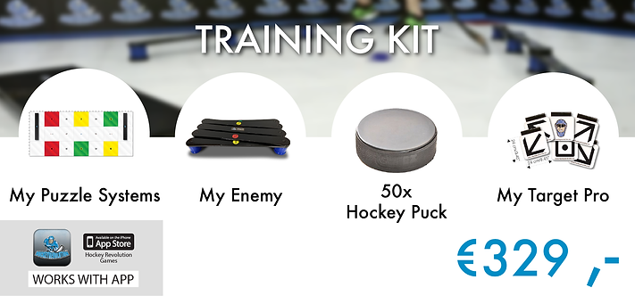 TRAINING KIT - MY PUZZLE SYSTEMS+MY ENEMY+50 PCS. HOCKEY PUCKS+MY TARGET PRO