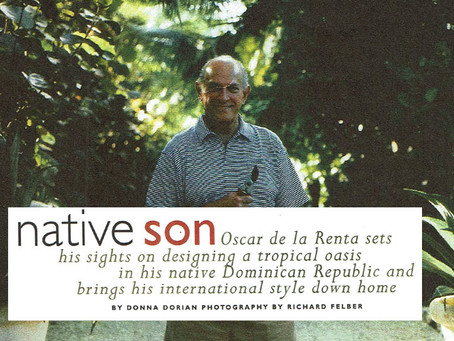 Oscar de la Renta in the DR - Garden Design