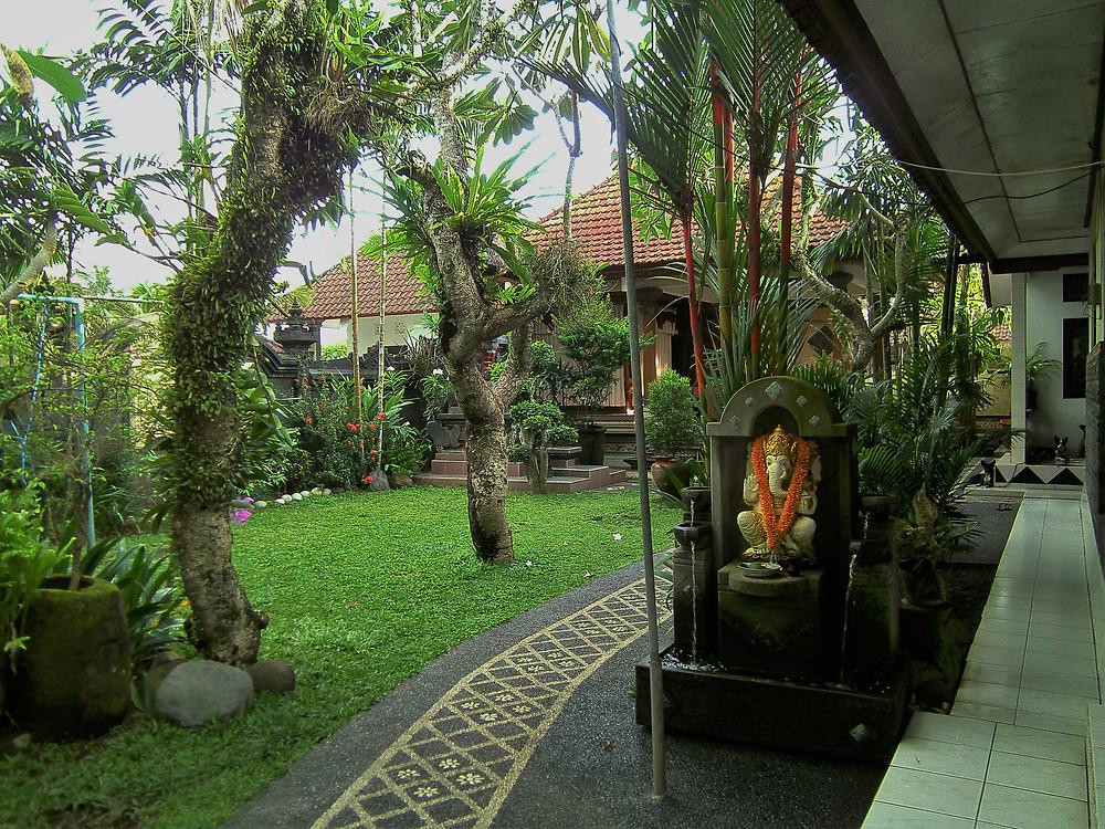 INside the gates of Wayhu's home