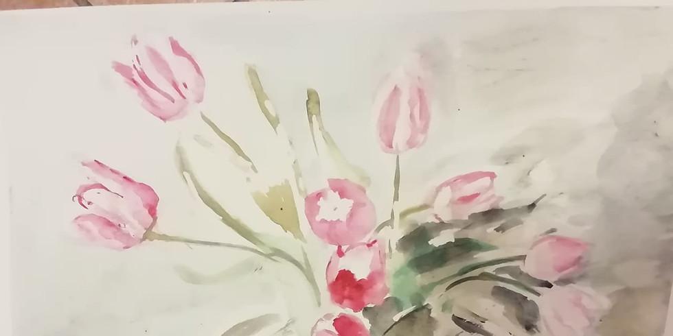 Nyári Festő Műhely Mándics Mariannal - akvarell, akril (12+) 3 alkalom, 1.