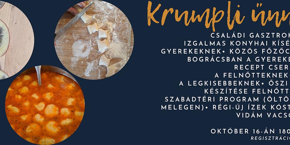 Krumpli ünnep – Családi tudományos gasztrokalandozás a Szakicska-kertben