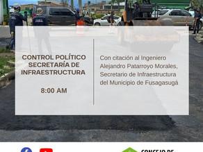 Control Político, Secretaria de Infraestructura