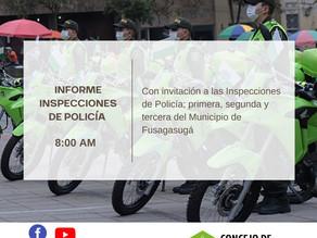 Informe Inspectores de Policía del Municipio de Fusagasugá.