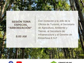 Sesión tema Especial Arborización