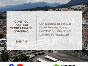 Control Político  Secretaría de Gobierno