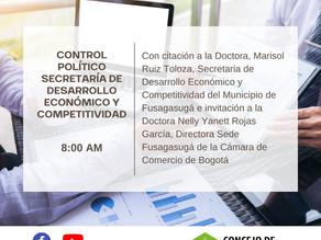 Control Político Secretaría de Desarrollo Económico y Competitividad