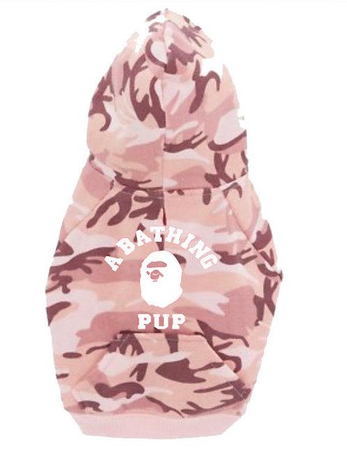 BATHING PUP PINK CAMO HOODIE