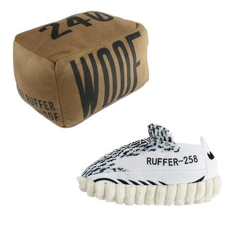 Zebra 258 + Woof Box Dog Toy Bundle