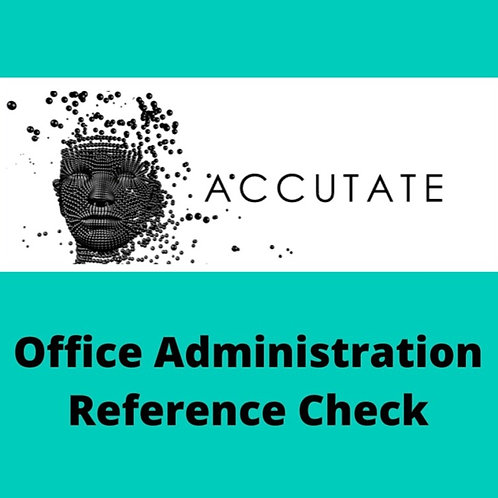 Office Administration Reference Check