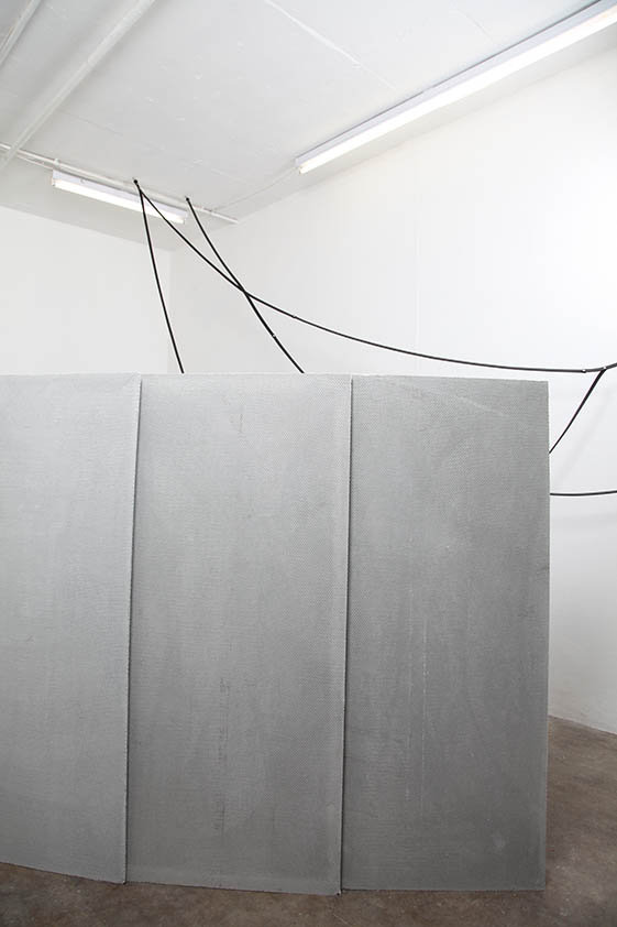 Simona Brinkmann, exhibition view, Blank Stare Flat Hollow, solo show at Five Years, London.