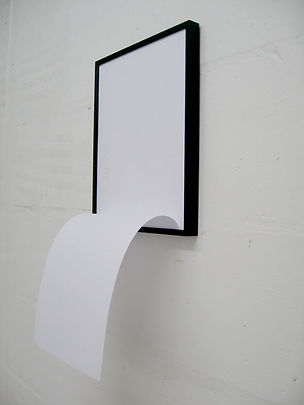Simona Brinkmann, Thrill Seeker - aluminium frame, paper. Wall sculpture, post-minimalism, contemporary art. Volta Show, Basel.