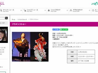 11/25(日) イオンモール日根野にてフラメンコショー