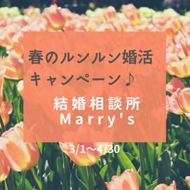 🌸お得な春のルンルン婚活キャンペーン始まります♪《3/1〜4/30》