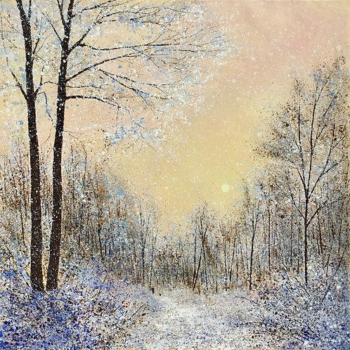 Snowy Sunset Stroll 71x71cm