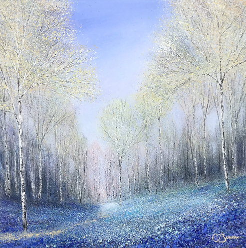 Drifts of Blue 40x40cm