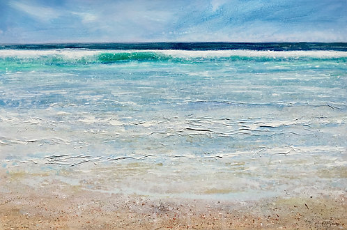 Clear Azure Cornish Sea 61x91cm
