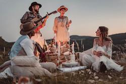 duo de musique mariage bohème