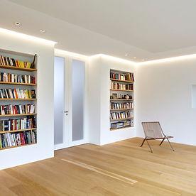 Umbauten in München, Emily Grünecker Architekten, Lichtinstallation, Interiorfotografie München