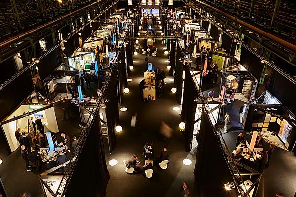 Architect@Work München, Fachmesse für Architekten, Zenith München, Messehalle von oben