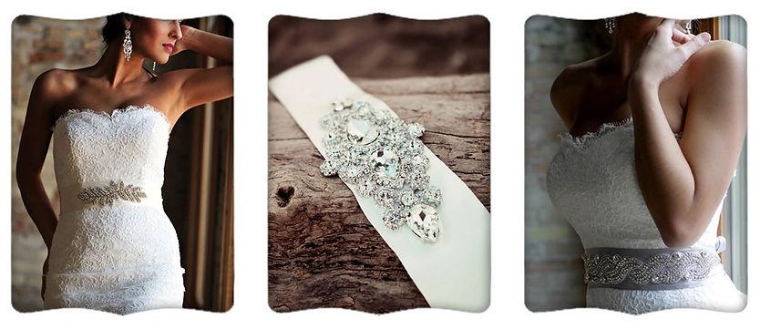 Jaxie bridal belts featured at Marah's Elegant in Mt. Horeb Wisconsin, near Madison Wisconsin