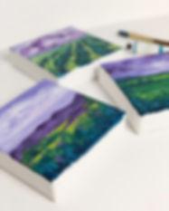 Mini landscape oil paintings by Arrin Kartel Art