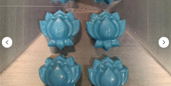 Mini Lotus Six Multi Cavity Plastic Bath Bomb Mold