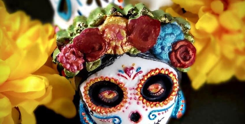 Mrs. Day of the Dead Family Plastic Bath Bomb Mold