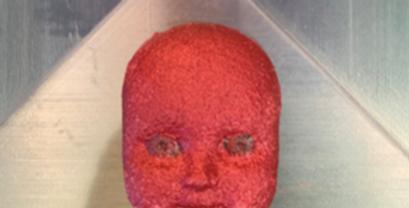 Medium Two Cavity Plastic Baby Doll Head Mold