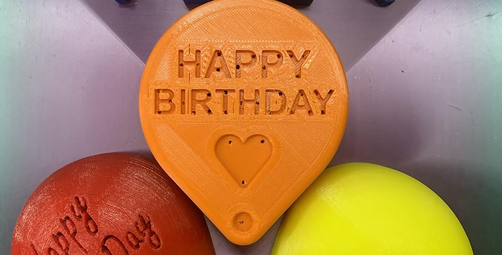 Happy Birthday Balloons Plastic Bath Bomb Mold - 3 Styles