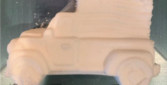All American Truck with Flag Plastic Bath Bomb Mold