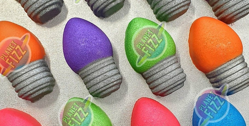 Holiday Light Bulb Plastic Bath Bomb Mold