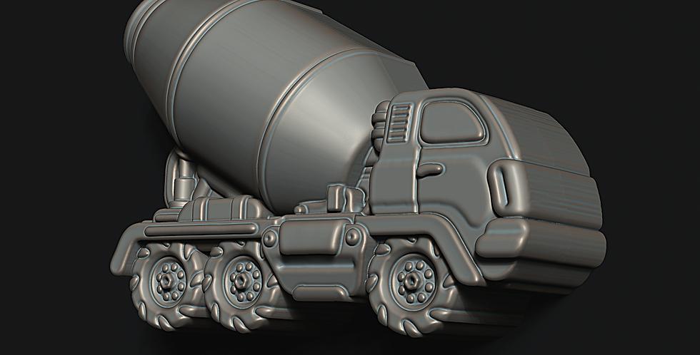 (SET) Large or Medium Cement Truck Plastic Bath Bomb Molds
