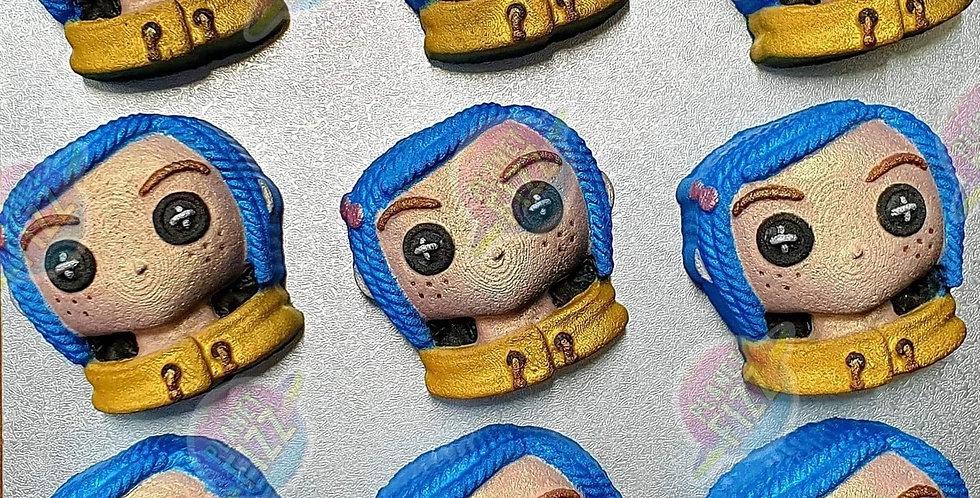 Button Girl Plastic Bath Bomb Mold