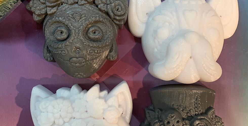 Medium Day of the Dead Family Plastic Bath Bomb Mold Set
