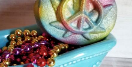 Hemp Hippie Peace Love Plastic Bath Bomb Mold