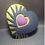 Thumbnail: Shattered Heart Plastic Bath Bomb Mold