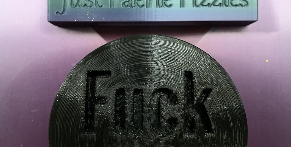 Fuck Off Plastic Bath Bomb Mold