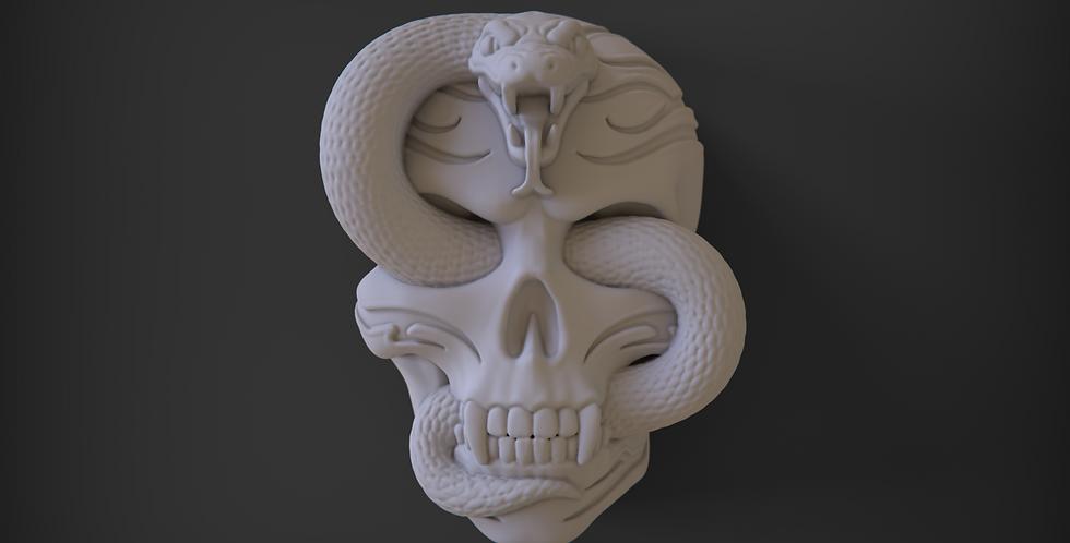 Snake 'n Skull Plastic Bath Bomb Mold