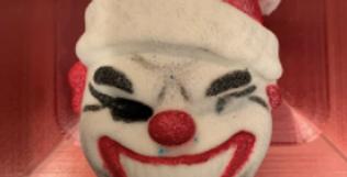 Creepy Holiday Clown Plastic Bath Bomb Mold