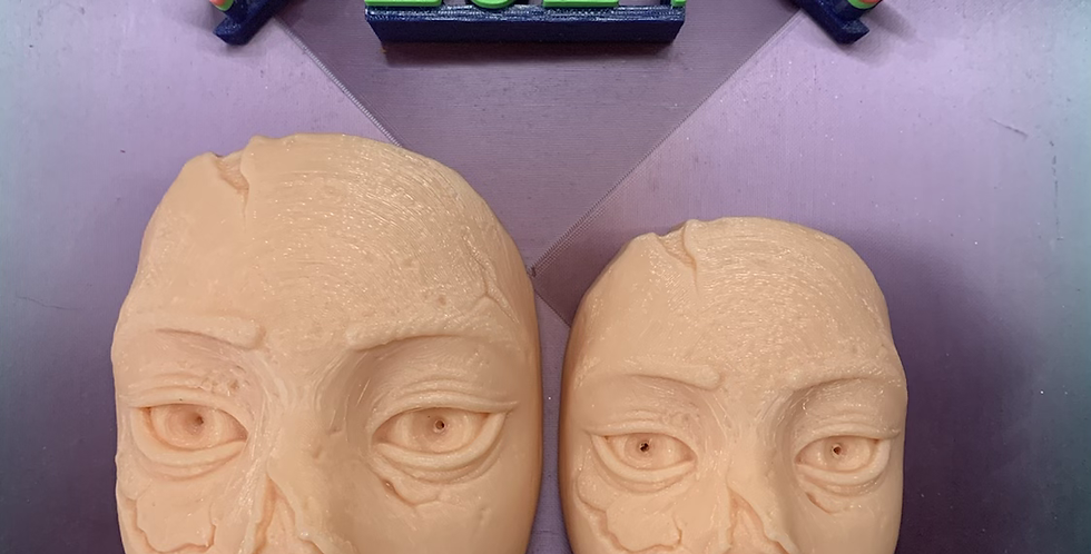 Large or Medium Death & Decay Face Plastic Bath Bomb Mold