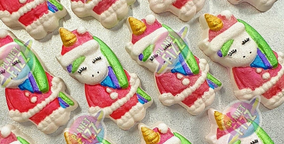 Holiday Unicorn Plastic Bath Bomb Mold