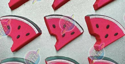 Watermelon Slice with Bite Plastic Bath Bomb Mold
