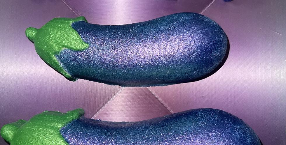 Large or Medium Plump Eggplant Plastic Bath Bomb Mold