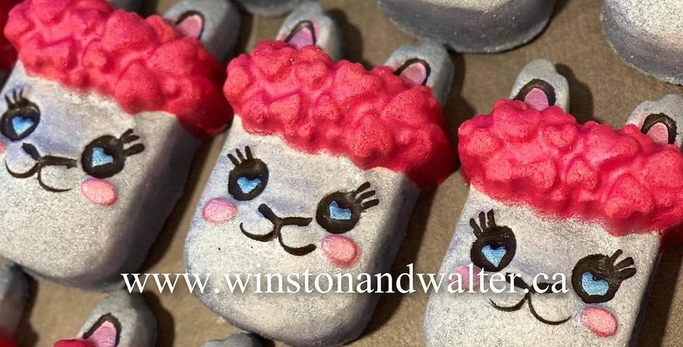 Large or Medium Hearts & Love Llama Plastic Bath Bomb Mold