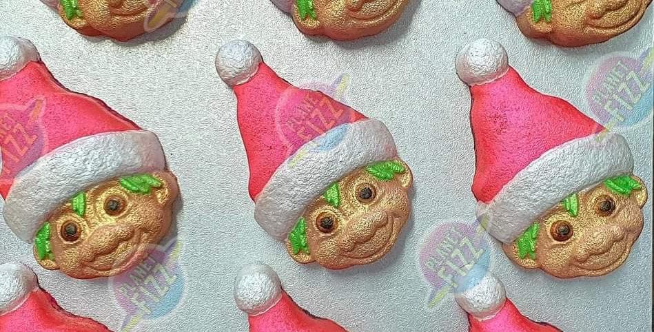 Holiday Hat Wearing Gnome Plastic Bath Bomb Mold