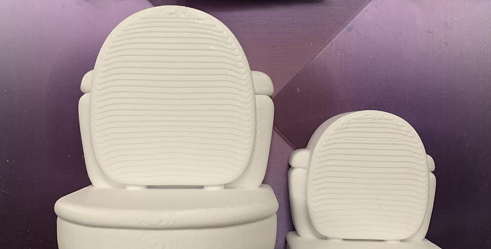 Large or Medium Plain or Smiling Toilet Plastic Bath Bomb Mold
