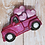 Thumbnail: Old Fashioned Truck with Valentines Hearts© Bath Bomb Mold